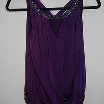Express Sleeveless Beaded Purple Blouse Top Size Extra Small  Photo