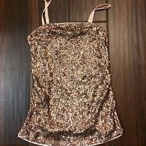 Express Sleeveless Top With Gold Sequins Size Xs Photo