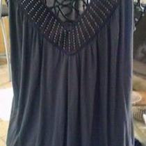 Express Sleeveless v Neck  Pullover Top With Domes Size M Photo