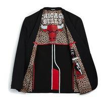 Express Slim Chicago Bulls Nba Performance Stretch Blazer Size 38 R New in Hand Photo