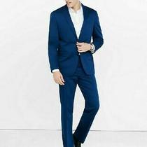 Express Slim Fit Navy Blue Photographer Suit Blazer Jacket 40s & Pants 34w/30l  Photo