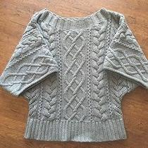 Express Small Gray Cable-Knit Sweater Photo