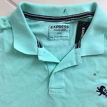 Express Small Lion Mens New Solid Mint Green Pique Polo Shirt Extra Large Photo