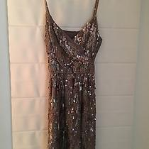 Express Small Sequined Blush Party Dress Photo