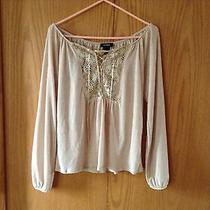 Express Small Women's Blouse Laced Front Stretchable  Photo