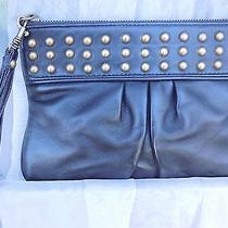 Express Small Wristlet Clutch Bag With Brass Studs Photo
