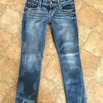 Express Stella Ankle Skinny Jeans 8 Uniquely Distressed Rare Wash Photo