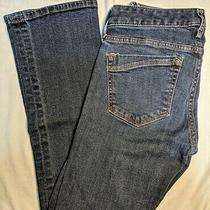 Express Stella Barely Boot Dark Blue Jeans Low Rise Sz 0 00 S Xs Short Womens Photo