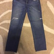 Express Stella Distressed Destroyed Skinny Straight Leg Jeans 10 Photo