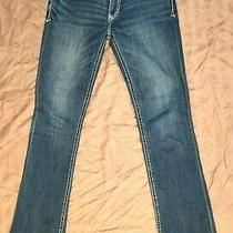 Express Stella Skinny Low Rise Womens Stretch Denim Blue Jeans Size 4l Photo