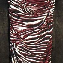 Express Strapless Dress With Black White and Red Zebra Print - Size Large Photo
