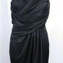 Express Strapless Ruched Wrap Dress S Black Corset Cocktail Party Sweetheart  Photo