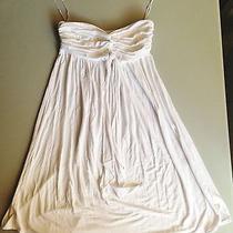 Express Strapless White Dress Xsmall Photo