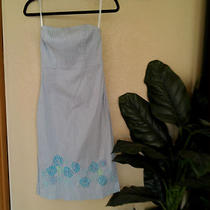 Express Strapless With Back Corset Tie Summer Dress Size 4very Cute Dress  Photo