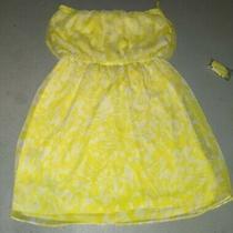 Express Strapless Yellow Dress Summer Yellow Dress Size Medium Photo