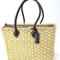 Express Straw Shoulder Handbag Animal Print Liner Photo