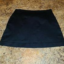 Express Stretch Black Mid-Thigh Side-Zip Mini Skirt Size 1/2. Free Shipping Photo