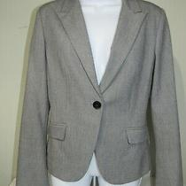 Express Stretch Gray Single-Button Lined Blazer Business Career Womens Size 6 Photo