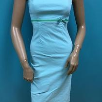 Express Stretch Turquoise Form Fitting Strapless Dress 2 Photo