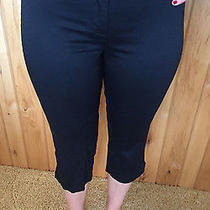 Express Stretch Women's Black Capri Pants Size 1/2 New Photo