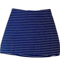Express Stripe Skirt Navy Size M Photo