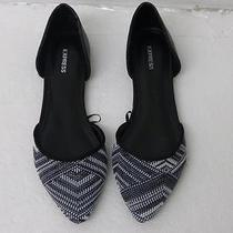 Express Striped Embroidered d'orsay Flats Sz 9 Photo
