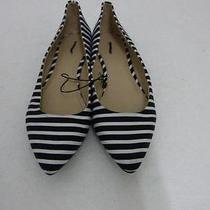 Express Striped Pointed Toe Flat Sz 9.5 Photo