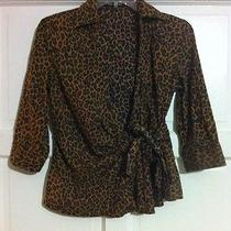 Express Studio Design Blouse for Women Leopard Spot Design Size Xs Photo