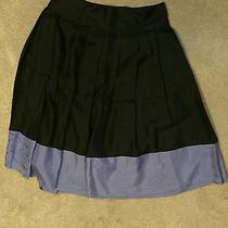 Express Studio Design Skirt Size 2 Black With Purple Trim Photo