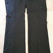 Express Stylist Women's Black Metallic Striped Dress Pants Size 2  Photo