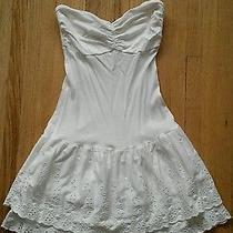 Express Summer Beach White Dress Xxs  00 Photo