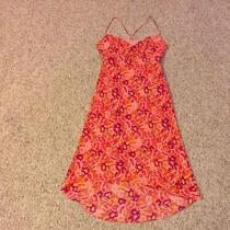 Express Summer Sun Dress Xs 0 2 Pink Floral Empire Waist a-Line Spaghetti Straps Photo