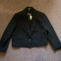 Express Supersoft Croppe Blazer Black Size Xs Photo