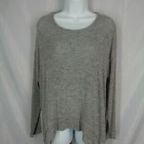 Express Sweater Knit Top Size Xs Twist Split Open Back High Low Hem New Photo