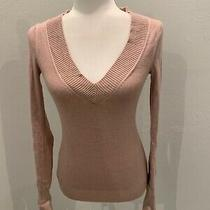 Express Sweater Long Sleeve Light Pink v Neck Sweater Size  Xs Photo