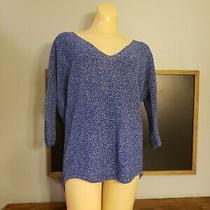 Express Sweater Size Small Blue v-Neck Womens  Photo