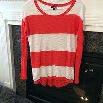 Express Sweater Size Small. Orange and White Photo