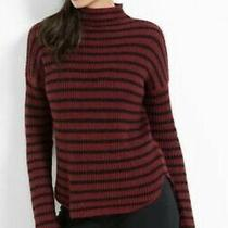 Express Sweater Womens Size Xs Wool Blend Striped Mock Neck Sweater Red/black Photo