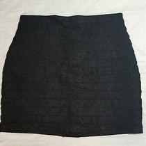 Express Sz 10 Black Snake Print Stretch Skirt 18