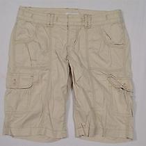 Express Sz 8 Khaki Pure Cotton Cargo Casual Bermuda Shorts Photo
