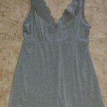 Express Sz S Grey Gray Lace Detail Tank Shelf Bra Photo