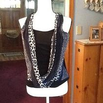 Express Sz Small Petite Black and Multi Color Tank Photo