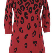 Express Sz Xs Red & Black Womens Long Sleeve Sweater Dress Photo