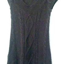 Express Sz Xs Solid Brown Cap Sleeve Acrylic Sweater Tunic  Photo