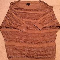 Express Tan Taupe Crochet Knit Dolman Sleeve Top Nwot - Small Photo