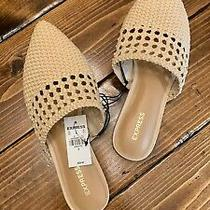 Express Tan Woven Pointed Mules Women Size 9 Photo