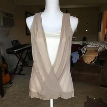 Express Tank Top Blouse Beige Size Small Photo