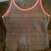 Express Tank Top Size Small Army Green/melon Color Photo