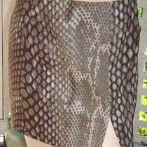 Express Taupe Brown Snakeskin Stretch Mini Skirt (3/4) Nwt Photo