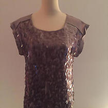 Express Taupe Sequin Front Top Size Extra Small Photo